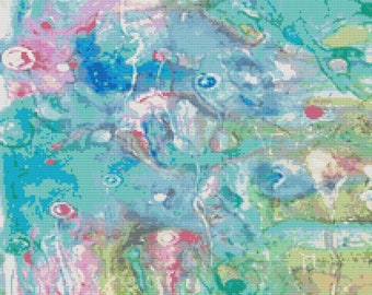 Modern Cross Stitch Kit by Rosie Brown 'Happiness' - Abstract Needlecraft