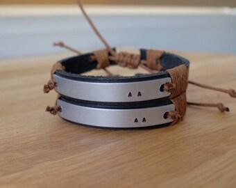 Personalized bracelet, Leather bracelet, Leather personalized bracelet,Couple bracelet, Friendship bracelet,Design your own style