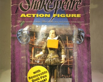 Shakespeare Action Figure with Removable Quill Pen and Book!