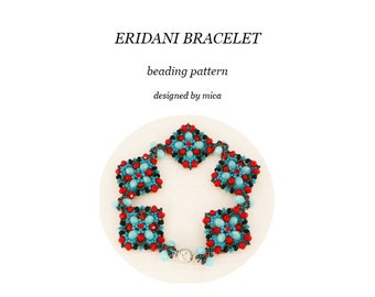 Eridani Bracelet  - Beading Pattern/Tutorial - PDF file for personal use only