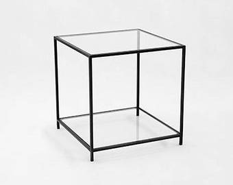 Glass Coffee Table _ Glass Side Table. Bedside Table. Accent Table