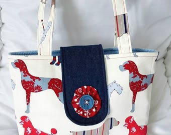 Dog lovers hand bag