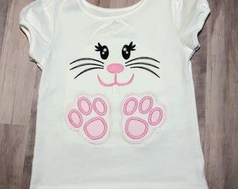 Girls Easter Shirt, Girl Bunny Easter Shirt, Personalized Easter Shirt, Easter Shirt for Girls, Easter Bunny Shirt, Egg Hunt Shirt,