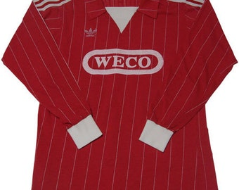 80's vintage adidas football shirts made in west germany
