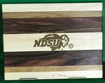 Handcrafted NDSU Bison Wooden Cutting Boards