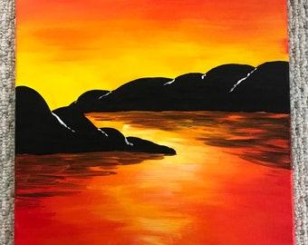Bay Sunset Painting
