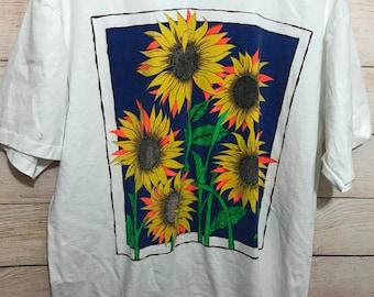 Vintage All Sport Sunflower Shirt Mens XL