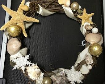 Beach Christmas Wreath