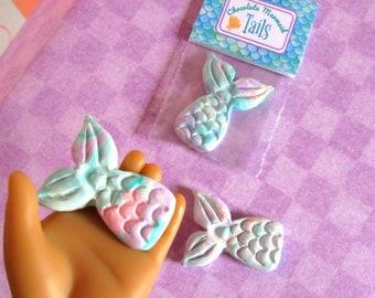 "American Mermaid Food 18"" Girl Doll Mermaid Tail Chococlate Candy Bag Mini Mermaid Doll Accessory Dessert Treat Bag Summer Doll Food"