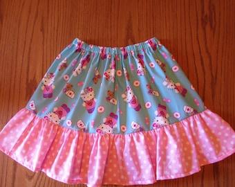 Hello kitty skirt/girls skirt/Hello kitty gift/Hello Kitty Birthday/Hello Kitty birthday skirt/gift for girls/cotton skirt/ruffled skirt