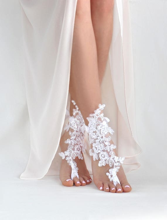 Bridal Barefoot Sandals Beach Wedding Foot Jewelry Boho