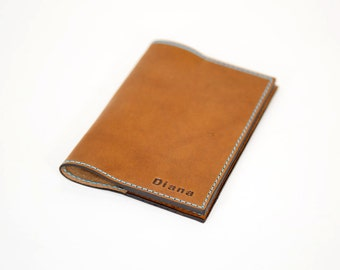Passport Cover, Leather Passport Cover, Horween Leather Passport Cover, Brown Passport Cover, Personalized Passport Cover