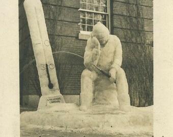Snow ice sculpture antique photo