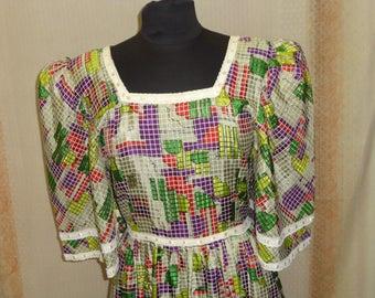 vintage 1970s Bohemian dress