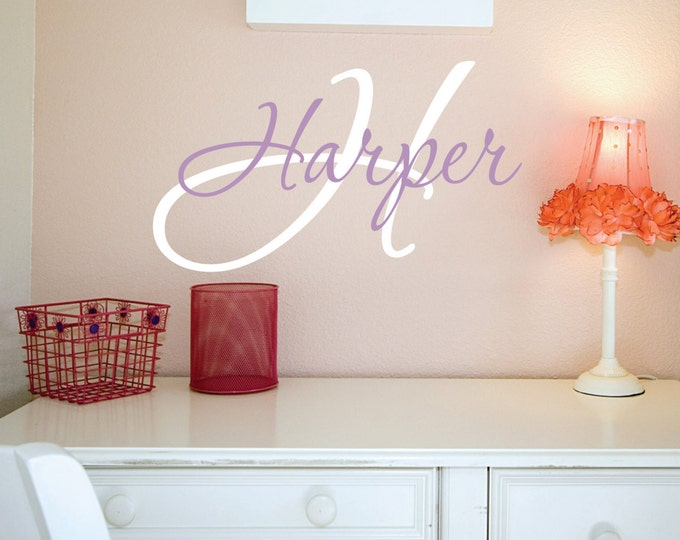 Girls Custom Name Wall Decal // Girl Name Decal //  Monogram Wall Decal // Personalized Name // Girls Bedroom Decal // Girls Name Sign