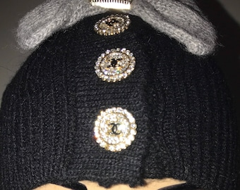 "Chanel Hat - Beanie- ""Inspired"""