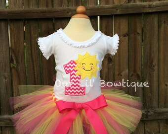 Sunshine Birthday- Sunshine Birthday   Shirt - 1st Birthday Shirt - Birthday Tutu- Personalized Birthday Shirt - Girl - First Birthday Tutu