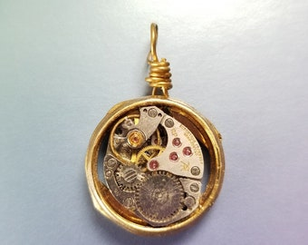 OOAK Steampunk Watch Part Necklace