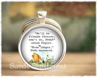Best Friend Keychain • Long Distance Friendship • Best Friend Gift • Friendship Keyring • Friend Birthday Gift