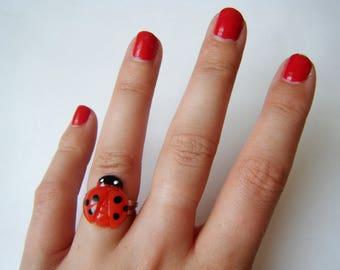 Ring - Red Ladybug