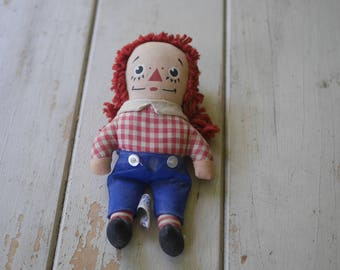 Small Vintage 70s Raggedy Andy Doll - Kinckerbocker