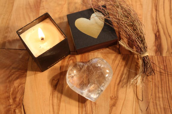 Clear as Glass ~ Clear Quartz Crystal Heart 2.5""
