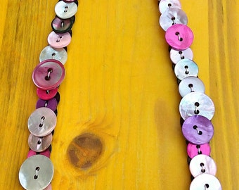 Mother-of-Pearl buttons collar #Sunrise Collar # Mother of Pearl buttons Necklace