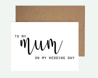 Mother of the Bride Card - Wedding Card