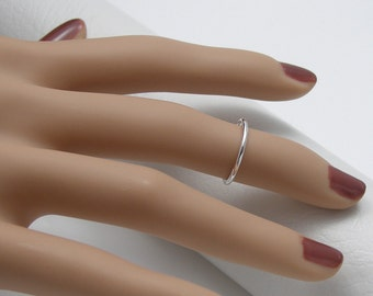 Sterling Silver Knuckle Ring, Midi Knuckle Ring
