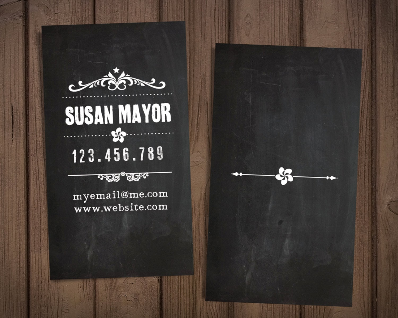 Chalkboard business card / Retro business card / Premade