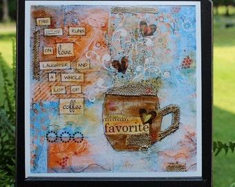 Art Print of Mixed Media Original artwork titled Coffee