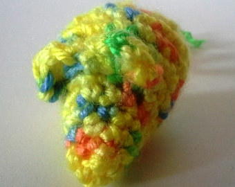 Sour Lemon Mouse Cat toy. crinkly or rattle, cat nip