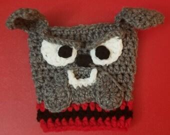 Crochet Bulldog Coffee Sleeve
