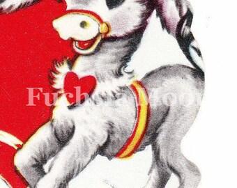 Digital Download : Sweetest Vintage Valentine Donkey Image