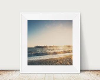 beach photograph ocean photograph brighton photograph brighton pier photograph beach decor sunset photograph english decor england print