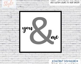 You&Me 12x12 Digital print Home Wall Decor