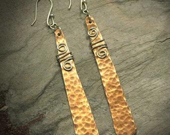 Glee - Copper & Silver earrings