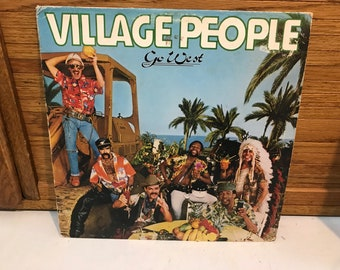 Vintage Village People, Go West vinyl record and cover.