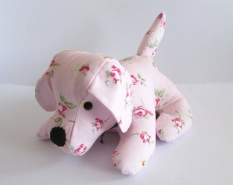 Pink Rose Bud Doggy Doorstop, Home Decor, Handmade, Fabric, Home, Home and Garden, Free Postage