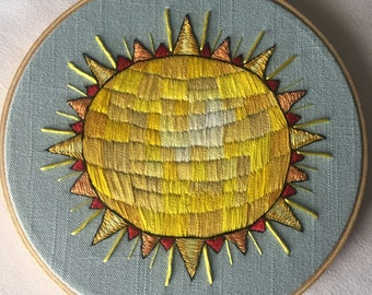 Happy in the Sun Embroidery