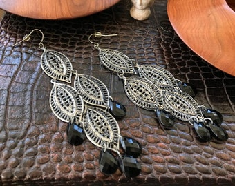 Boho earrings, bohemian earrings, long earrings, drop earrings, women earrings, cool earrings, earrings for her
