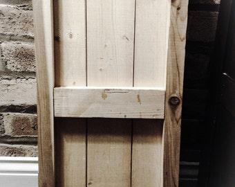 AVAILABLE:  2-Panel Cedar Shutter / exterior shutters / cedar shutters / paneled shutters / wood shutters / home exterior