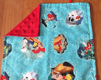 RESERVED: Little Mermaid Car Seat Canopy & Blanket