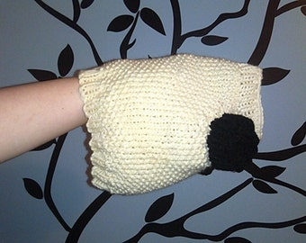 Hand Knit One-Size-Fits-Most Sheep Sweater for Cats or Small Dogs