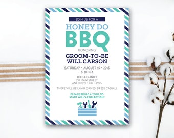INSTANT DOWNLOAD wedding shower invite / groom shower / couples shower / honey do BBQ / engagement party