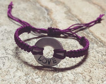 Love - Stamped Bracelet - Friendship Jewelry