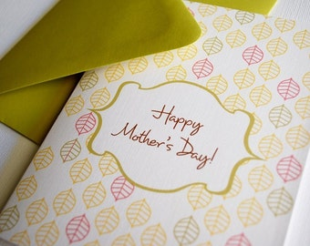 Pattern- Mothers Day single greeting card