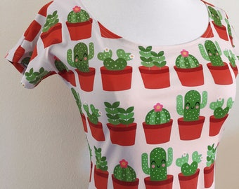 Cactus Succulents Skater Fit and Flare Dress - Size S, M, L, XL