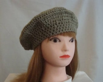 Taupe Beret - Women's Taupe Beret - Taupe Tam - Women's Tam