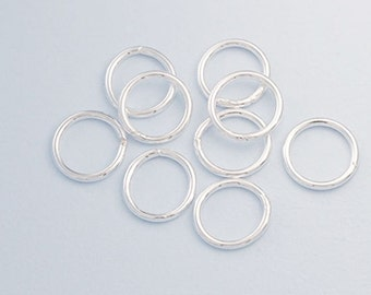 12 of 925 Sterling Silver Solder Jump Ring 1x9 mm. :th2349